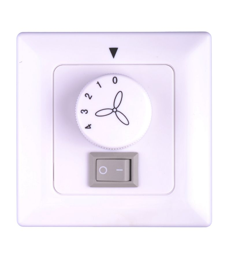 Ceiling fan wall controller with light switch