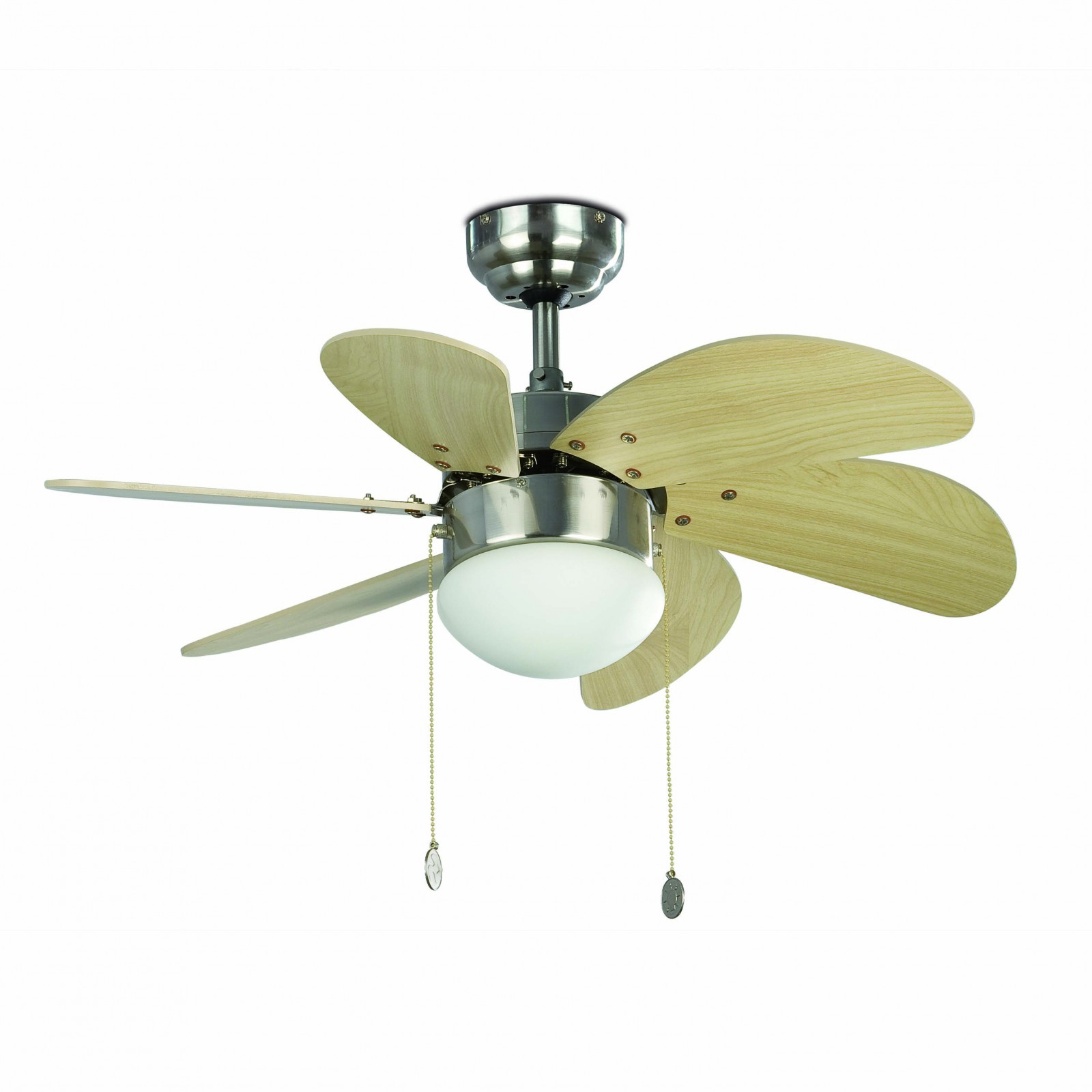 Faro Ceiling Fan Palao Nickel Matt 76 Cm 30 With