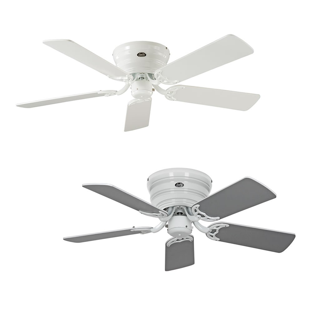 Ceiling fan classic flat white extra flat in various sizes for Ceiling fan sizes